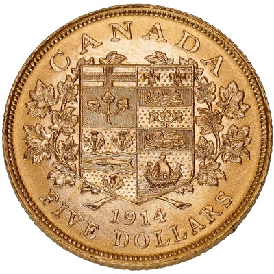 $5 1914 Premium Hand-Selected Gold Coins - Canada's First Gold Coins