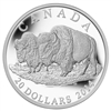 2014 $20 Fine Silver Coin - The Bison:  The Bull And His Mate
