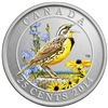 25c 2014 Coloured Coin - Eastern Meadowlark