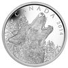 2014 $125 Fine Silver Coin Howling Wolf
