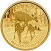 2014 $200 Pure Gold Coin - The White-Tailed Deer: Quietly Exploring