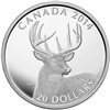 2014 $20 Fine Silver Coin - The White-Tailed Deer - Portrait