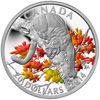 2014 $20 Fine Silver Coin - Cougar: Perched on a Maple Tree