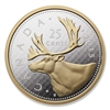 2015 5oz Fine Silver - Big Coin Series: 25-Cent Coin (Caribou)