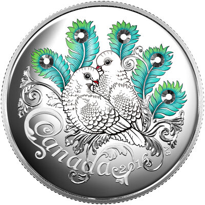 2016 $10 Fine Silver Coin - Celebration of Love