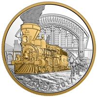 2017 $20 Locomotives Across Canada: The 4-4-0 - Pure Silver Gold-Plated Coin
