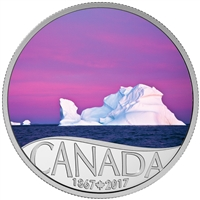 2017 $10 Fine Silver Coin - Celebrating Canada's 150th: Iceberg at Dawn (Newfoundland)