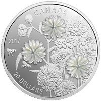 2017 $20 Pearl Flowers - Pure Silver Coin