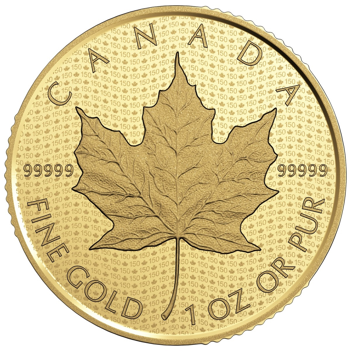 2017 200 Canada 150 Iconic Maple Leaf Pure Gold Coin