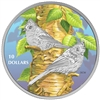 2017 $10 Birds Among Nature's Colours: Tufted Titmouse - Pure Silver Coin