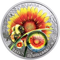 2017 $20 Mother Nature's Magnification: Beauty Under the Sun - Pure Silver Coin
