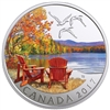 2017 $10 Iconic Canada: Autumn's Palette - Pure Silver Coloured Coin