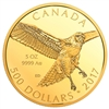 2017 $500 Red Tailed Hawk - Pure Gold Coin