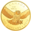2018 $500 Great Horned Owl - Pure Gold Coin