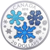 2018 $20 Ice Crystals - Pure Silver Coin