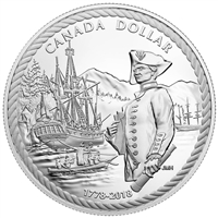 2018 $1 Captain Cook at Nootka Sound - Pure Silver Coin