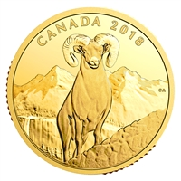 2018 $200 Bighorn Sheep - Pure Gold Coin