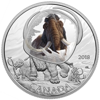 2018 $20 Frozen in Ice: Woolly Mammoth - Pure Silver Coin