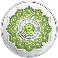 2018 $5Birthdaystones : August - Pure Silver Coin