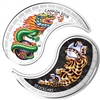 2018 $10 Black and White Yin and Yang: Tiger and Dragon - Pure Silver Coin