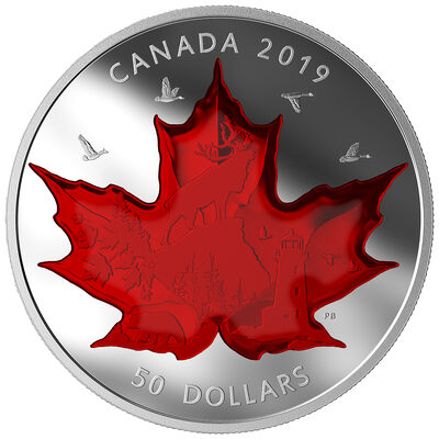 2019 $50 Celebrating Canada's Icons - Pure Silver Coin