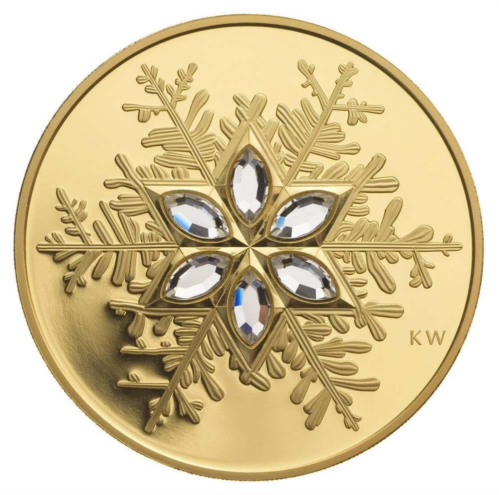 $300 2006 Gold Coin - Crystal Snowflake | Royal Canadian ...
