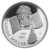 $1 2005 Proof Silver Coin - 40th Anniversary of Canada's National Flag