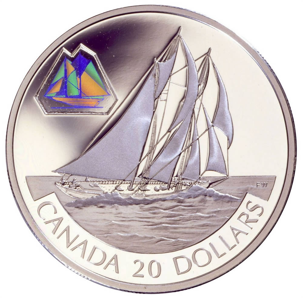20 2000 Silver Coin The Bluenose Royal Canadian Mint