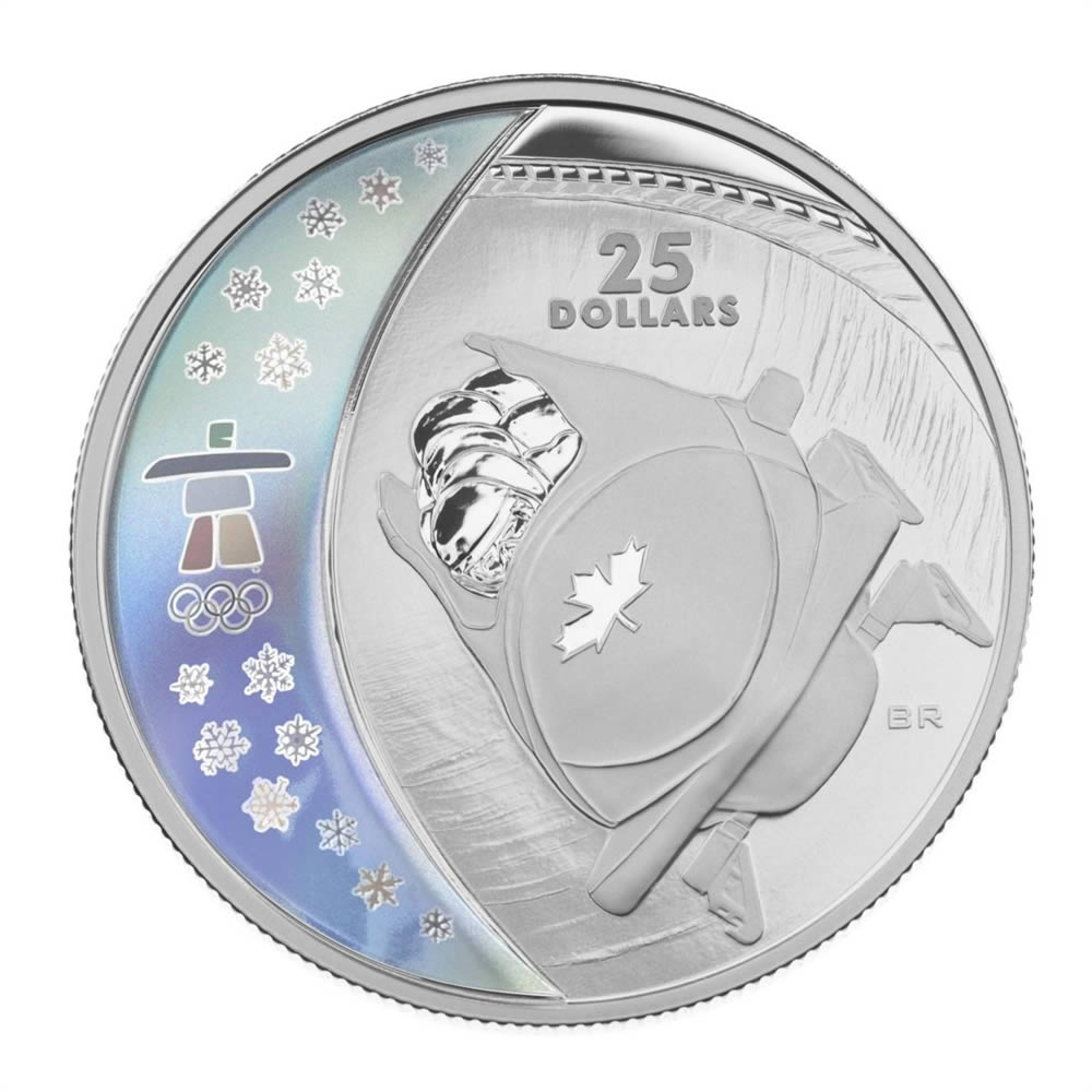 25 2008 Sterling Silver Hologram Coin Vancouver 2010