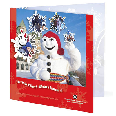 2006 Quebec Winter Carnival Uncirculated Gift Set with Colourized 25 cent