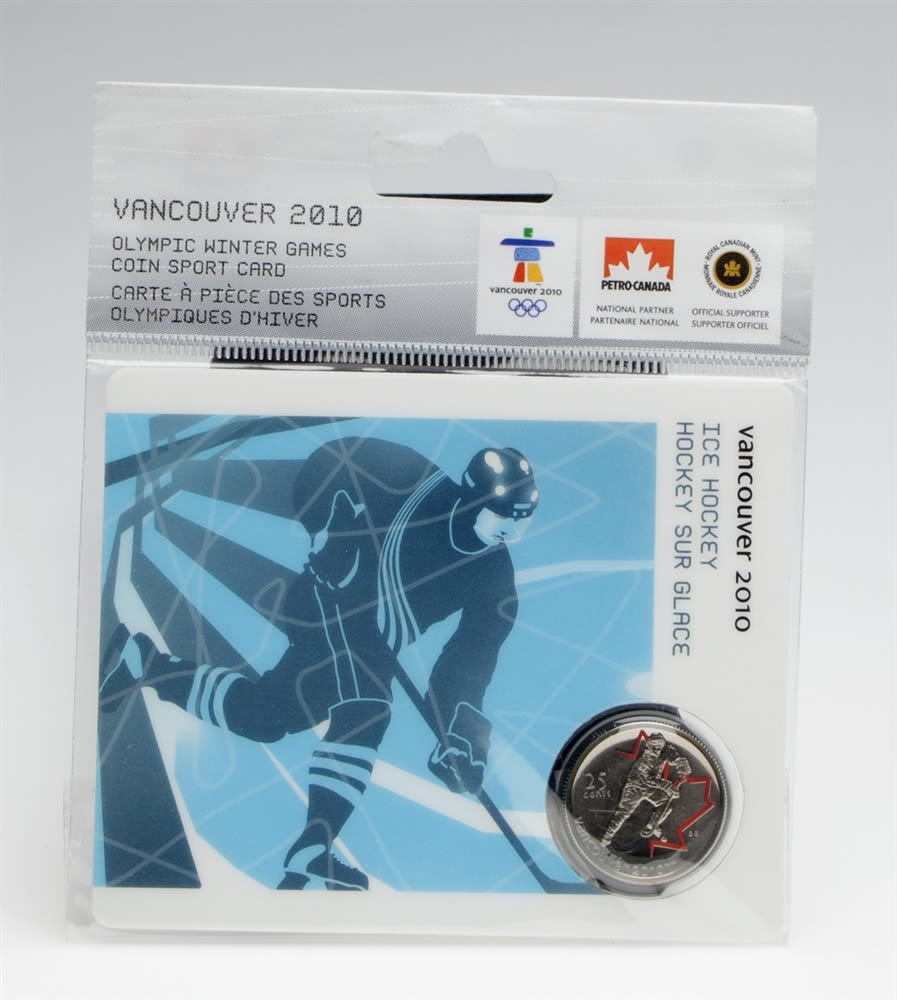25c 2007 Vancouver 2010 Ice Hockey Olympic Sports Card