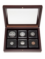 1963 Uncirculated Coin Set in Custom Mahogany Display Case
