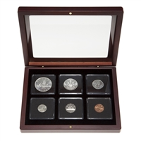1960 Uncirculated Coin Set in Custom Mahogany Display Case