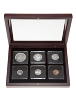 1962 Uncirculated Coin Set in Custom Mahogany Display Case