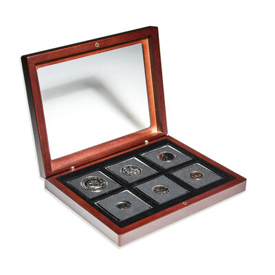 1970 Uncirculated Coin Set in Custom Mahogany Display Case