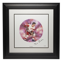10 Units - NHL All-Stars Framed Autographed Lithograph and Stamp Set - Ted Lindsay