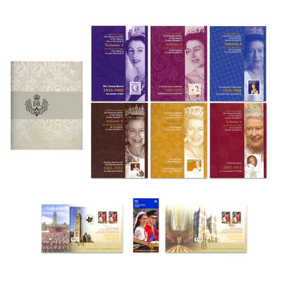 2012 A 60-Year Reign: The Diamond Jubilee of Her Majesty Queen Elizabeth II - Stamps, Postage-Paid Postcards and Keepsake Folders