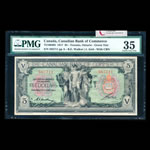 The Canadian Bank of Commerce $5 1917 Green and red seal PMG VF-35
