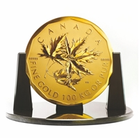 2007 $1,000,000 Maple Leaf Bullion - 99.999% Pure Gold 100 Kilogram Coin
