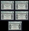 $5 1905 Specimen NF-6e Cash Note Set Knight-Gushue PMG GUNC-66