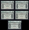 $5 1907 Specimen NF-6g Cash Note Set Knight-Gushue PMG GUNC-66