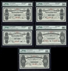 $5 1908 Specimen NF-6h Cash Note Set Knight-Gushue PMG GUNC-66