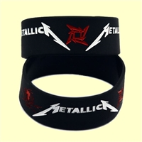Speed Metal Rock Style Band Metallica Silicone Bracelet for Fans