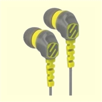 Noise Isolation Earbuds, Grey & Yellow