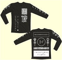 Twenty One Pilots Print Men's T-Shirt Long Sleeve Slim O Neck Fashion Casual