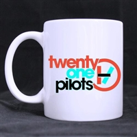Twenty One Pilots Band Customized Design Coffee / Beer Mug White Ceramic Office Home Cup 11 OZ Two Sides Printed