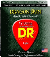 Dragon Skin Clear Coated Acoustic Guitar Strings 10-48 Lite 12-String