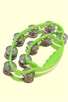 Alice Green Double Ring Butterfly Durable Plastic Tambourine
