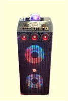 Bluetooth Professional DJ Speaker 291 with Disco Lights Multimedia Karaoke & PA System
