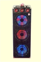 Bluetooth Professional DJ Speaker 293 with Disco Lights Multimedia Karaoke & PA System